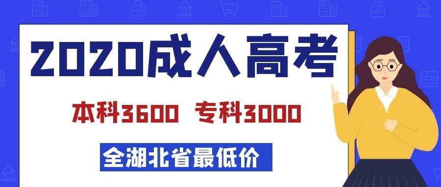 2020年学历提升全湖北省最低价成教-本科3600专科3000